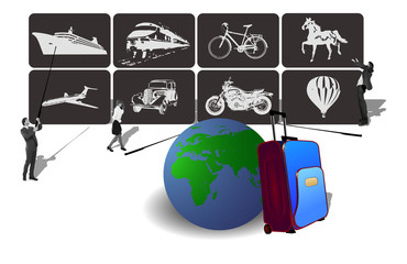 Transport Icons for travel