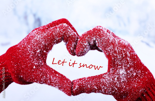 canvas print picture Let it snow, greeting card