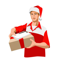 Christmas courier
