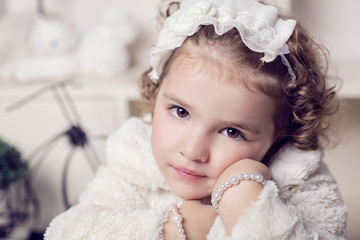 portrait of a romantic little girl
