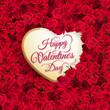 Obrazy na płótnie, fototapety, zdjęcia, fotoobrazy drukowane : Rose flower and heart. EPS 10
