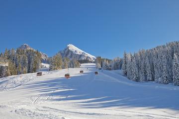 Ski lift in Dolomites, South Tyrol, Italy