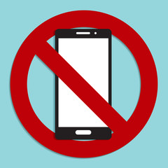 No phone sign icon