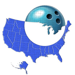 USA map e bowling puzzle