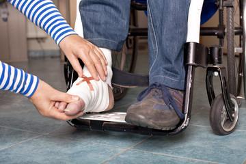 Verletzung am Fuß