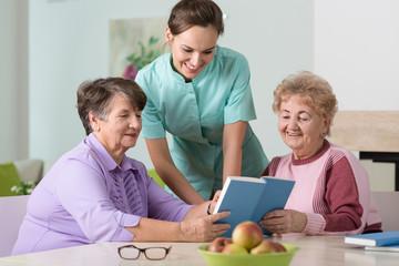 Nurse and older women