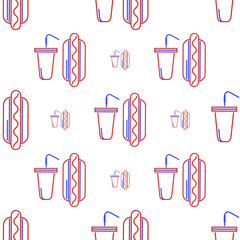Vector background for fan food and beverage