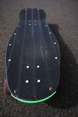 Vintage Style Longboard Black Skateboard
