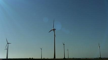 Falling meteorite on the wind generators field