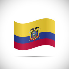Ecuador Flag Illustration