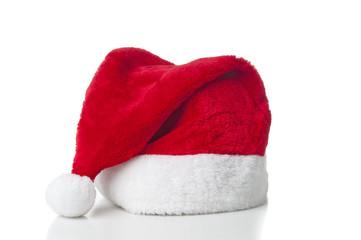 Santa hat on white background