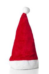 Xmas Santa hat isolated on white background