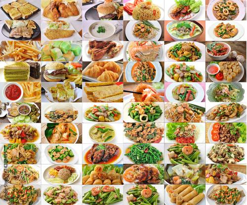 Fotobehang Restaurant set of thai food