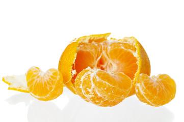 Peeled tasty tangerine