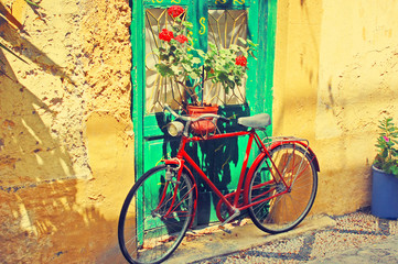Retro bike in the city