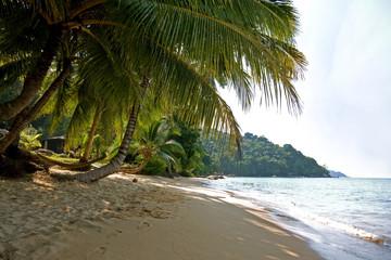 Nobody at Petani Beach at Perhentian Kecil Island in Malaysia