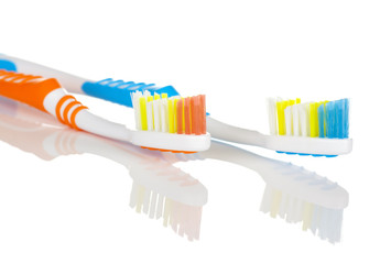 Blue and Orange Toothbrush
