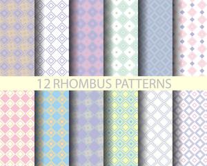12 retro pink geometric rhombus  pattern 2