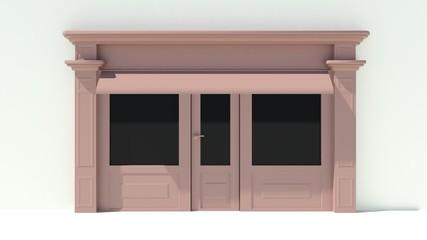 Sunny Shopfront with large windows
