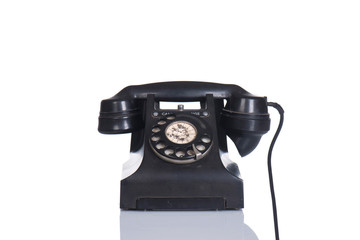 black old telephone