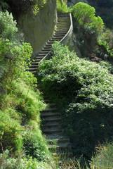 Steintreppe der Terme Carascura