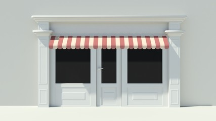 Sunny Shopfront with large windows