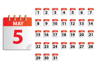 MAY Vector months calender