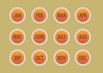 month (icon, sign, symbol).