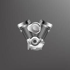 vector of motorcycle engine