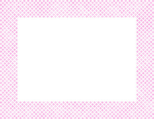 Pink and White Hearts Frame