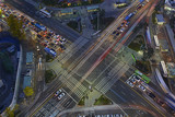 Traffic with blurred Motion concept