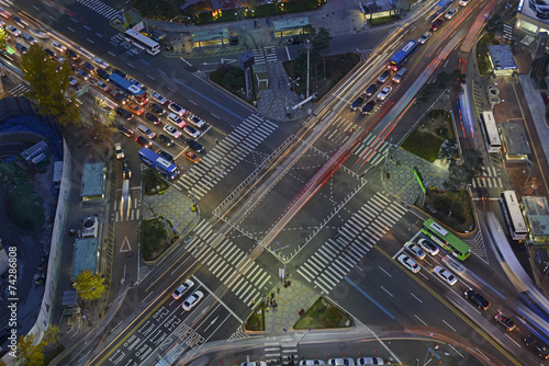 Traffic with blurred Motion concept - 74286808