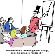 ...whole team bought into change... magical happened.