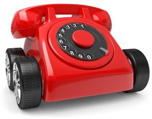 Telefon auf Räder