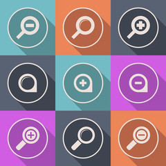 Vector magnifier glass zoom Icon search lupe logo