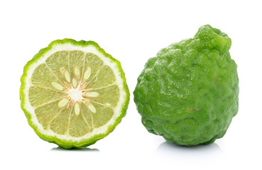Bergamot fruit on white background.