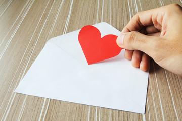Sending love letter