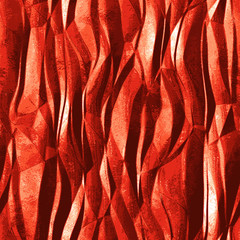 Abstract background of metal foil resembling flame