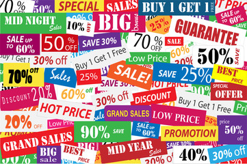 Sales promotion and big discount in business concept