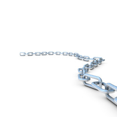 Chain On White Background With Copyspace