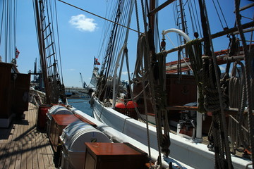 Old deck and rigging (school sail ship)