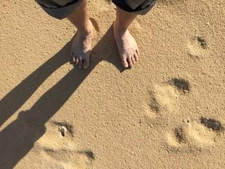 walking on sand