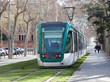 Ordinary tramway on street - 74289409