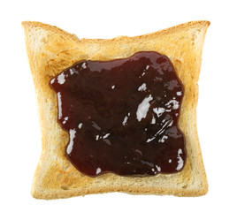 Toast with a red berry jam