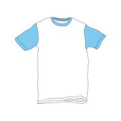Vector illustration of T-Shirt Template