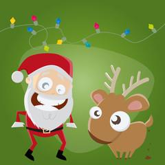 weihnachtsmann reh lustig weihnachten