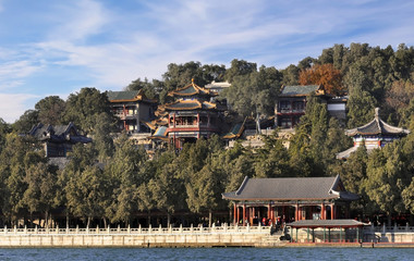 Summer Palace and channel in Beijing