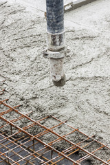 Pipe with concrete.