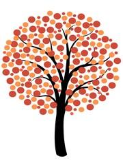 Simple autumn tree illustration
