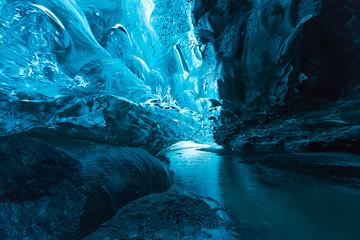 Jaskinia Lodowa duży na lodowiec Vatnajokull, Islandia